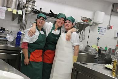 Cuina d'alta qualitat al menjador escolar