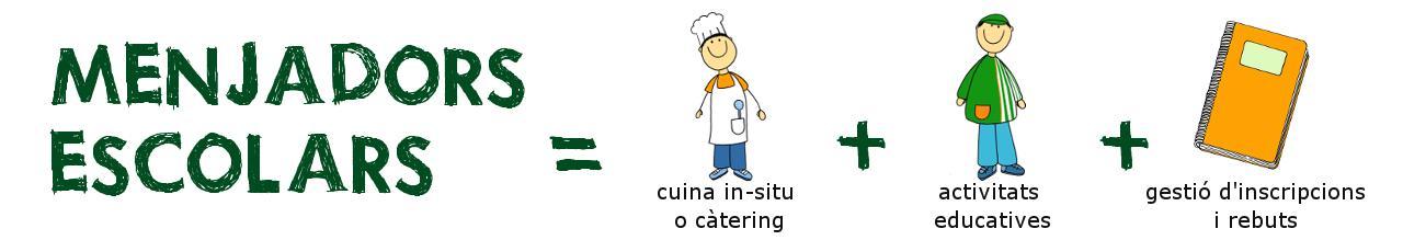 Menjadors escolars = cuina in-situ o càtering + activitats educatives + gestió d'inscripcions i rebuts
