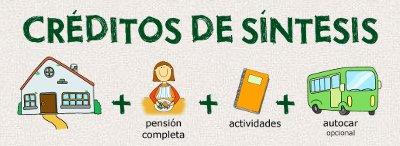 Créditor de síntesis = casa de colonias + pensión completa + actividades + autocar (opcional)