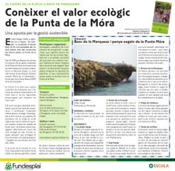 Excursió amb adolescents a la punta de la Mora, costa de Tarragona