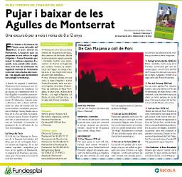 Excursió amb nens i nenes de 8 a 12 anys a Montserrat